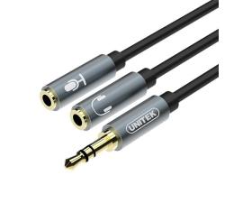 Unitek Rozdzielacz miniJack - słuchawki + mikrofon (Y-C9008AGY)