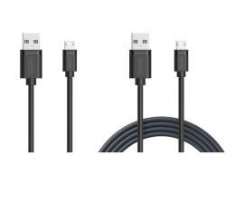 Unitek Zestaw kabli micro USB 1m + 15 cm (C4050BK)