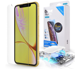 Whitestone Szkło Hartowane Dome Glass + lampa UV do iPhone XR (8809365402984)
