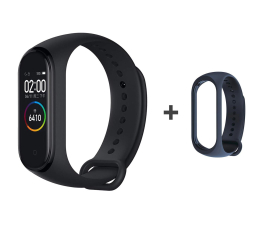 Xiaomi Mi Band 4 czarny + Mi Band 4 Strap Blue