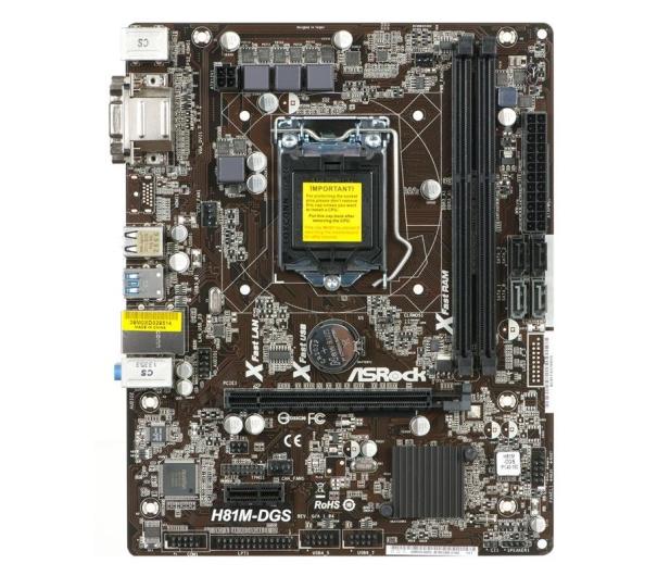 ASRock H81M-DGS (H81 PCI-E DDR3) - 156541 - zdjęcie 2