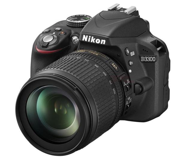 Nikon D3300 czarny +AF-S VR DX 18-105  - 180686 - zdjęcie