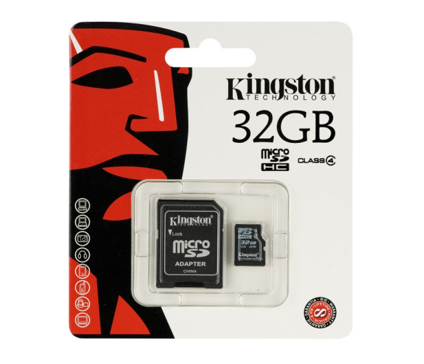 Kingston 32GB microSDHC Class4 +adapter SDHC - 60089 - zdjęcie