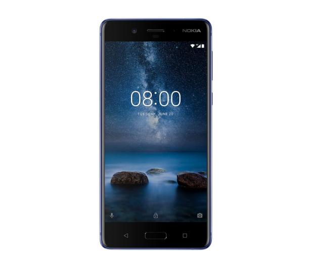 Nokia 8 Dual SIM błyszczący niebieski  - 386998 - zdjęcie 2