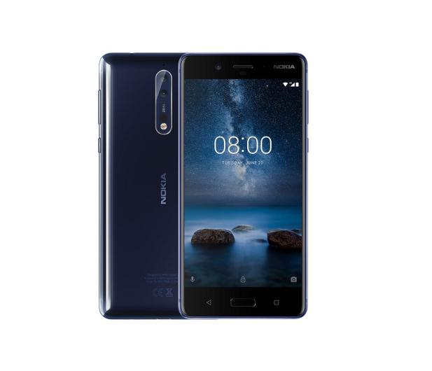 Nokia 8 Dual SIM błyszczący niebieski  - 386998 - zdjęcie