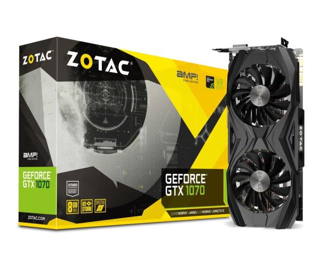 Zotac Geforce GTX 1070 AMP Core Edition 8GB GDDR5 - 387580 - zdjęcie
