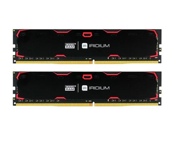 GOODRAM 8GB 2400MHz IRIDIUM Black CL17 (2x4GB) - 402941 - zdjęcie