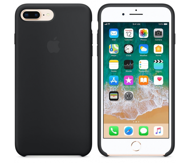 Apple Silicone Case do iPhone 7/8 Plus Black - 387677 - zdjęcie 2