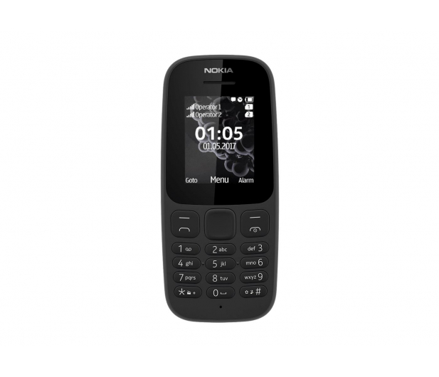 Nokia 105 2017 Dual SIM czarny - 388694 - zdjęcie 2
