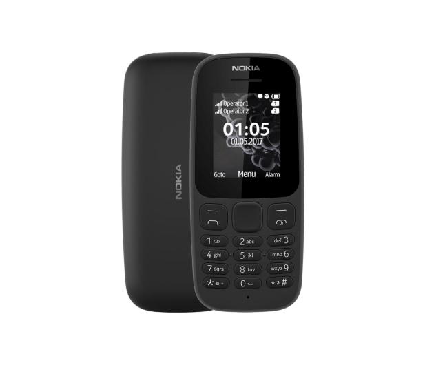 Nokia 105 2017 Dual SIM czarny - 388694 - zdjęcie