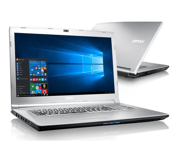 MSI PE72 7RD i7-7700HQ/8GB/1TB/Win10 GTX1050 - 372223 - zdjęcie