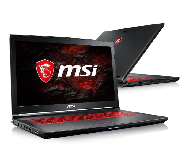 MSI GV72 i7-8750H/8GB/240+1TB GTX1050Ti  - 440508 - zdjęcie