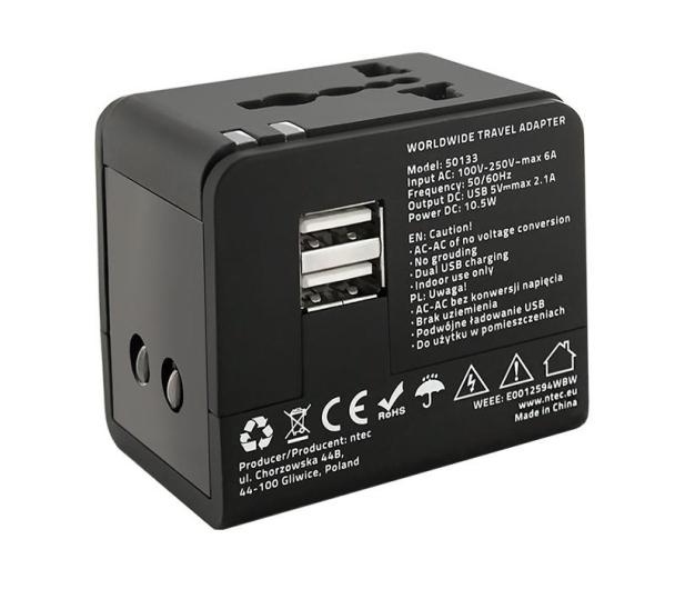 Qoltec Uniwersalny adapter podróżny 10,5 W 5V 2.1A - 385350 - zdjęcie 5
