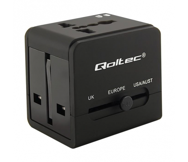 Qoltec Uniwersalny adapter podróżny 10,5 W 5V 2.1A - 385350 - zdjęcie