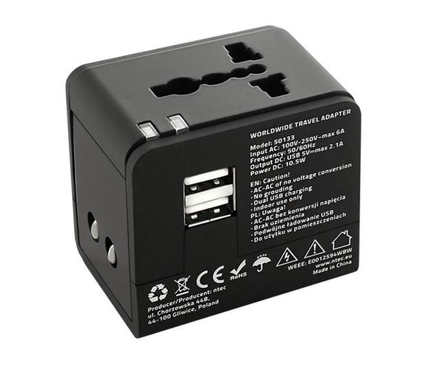 Qoltec Uniwersalny adapter podróżny 10,5 W 5V 2.1A - 385350 - zdjęcie 6