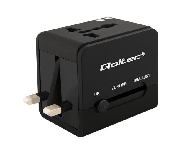 Qoltec Uniwersalny adapter podróżny 10,5 W 5V 2.1A - 385350 - zdjęcie 4