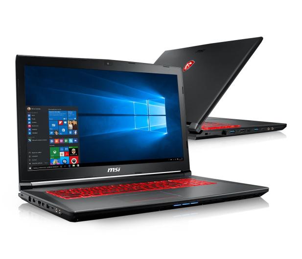 MSI GV72 i7-7700HQ/8GB/1TB/Win10X GTX1050  - 390653 - zdjęcie