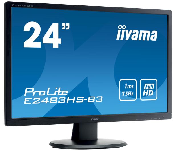 iiyama E2483HS czarny - 380630 - zdjęcie 2