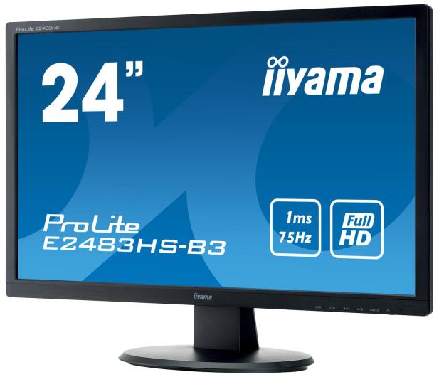 iiyama E2483HS czarny - 380630 - zdjęcie 3