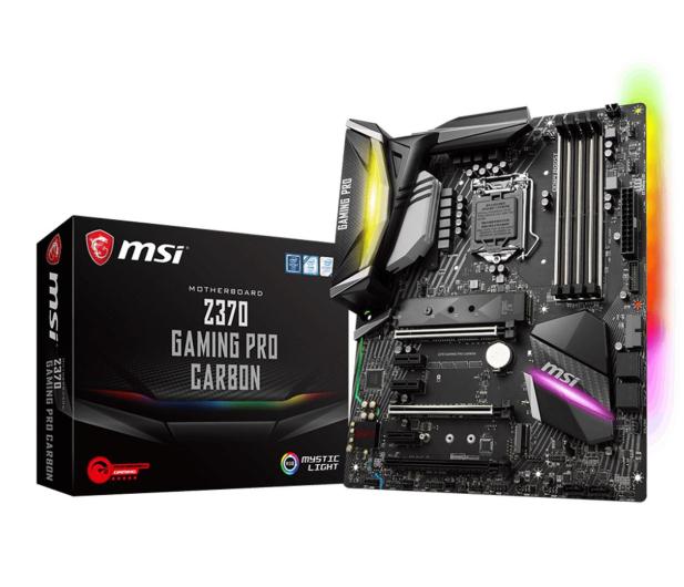 MSI Z370 GAMING PRO CARBON (PCI-E DDR4 USB 3.1/M.2) - 384548 - zdjęcie