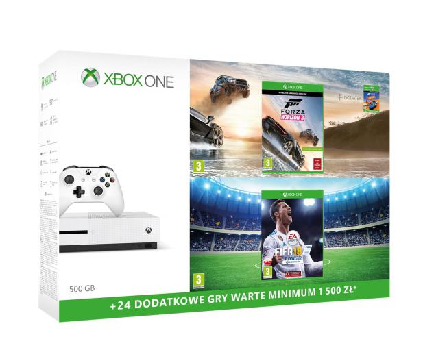 Microsoft Xbox ONE S 500GB+Horizon 3+Pad+FIFA 18+ GOLD 6M - 387057 - zdjęcie 2