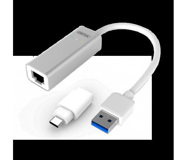 Unitek Adapter USB, USB-C - RJ-45 (Gigabit) - 385727 - zdjęcie