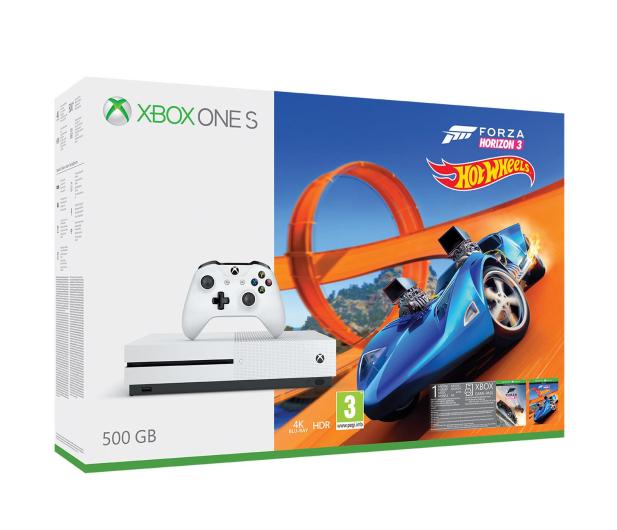Microsoft Xbox One S 500GB Forza H3+Hot Wheels+ GOLD 6M - 384295 - zdjęcie 7