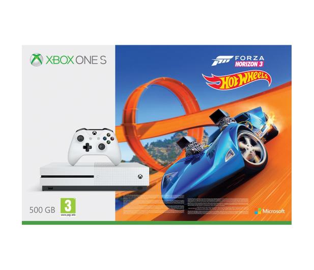 Microsoft Xbox One S 500GB Forza H3+Hot Wheels+ GOLD 6M - 384295 - zdjęcie 2