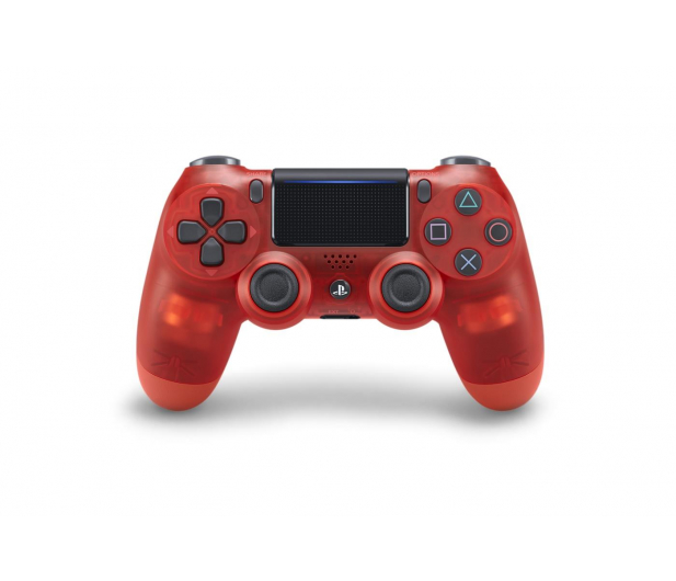Sony Kontroler PS 4 DualShock 4 Translucent Red V2 - 386450 - zdjęcie