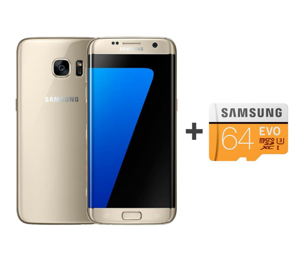 Samsung Galaxy S7 edge G935F 32GB złoty + 64GB - 392944 - zdjęcie
