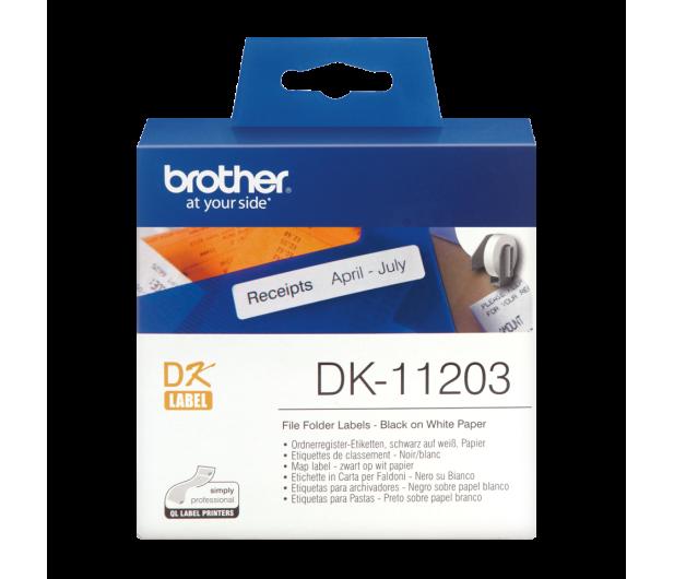 Brother Etykieta na segregatory 300 szt. (DK11203) - 393645 - zdjęcie 2