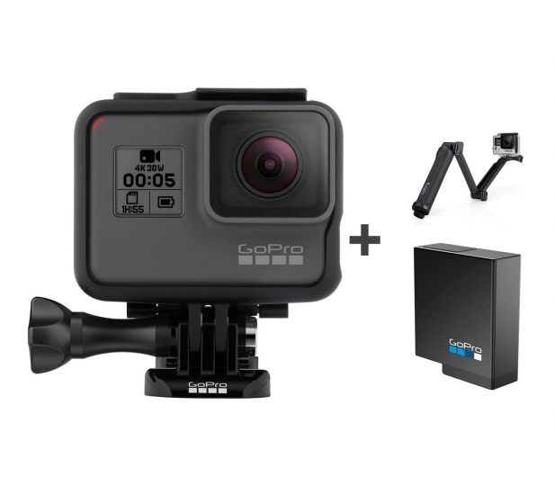 GoPro HERO5 Black + Uchwyt 3-Way + Akumulator  - 394949 - zdjęcie 1