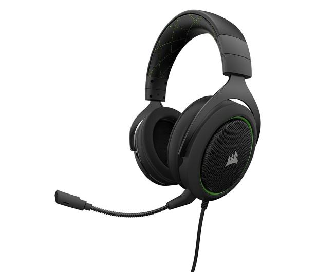 Corsair HS50 Stereo Gaming Headset (zielone) - 395037 - zdjęcie