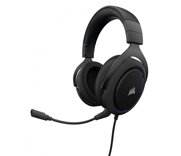 Corsair HS50 Stereo Gaming Headset (niebieskie)  - 395038 - zdjęcie