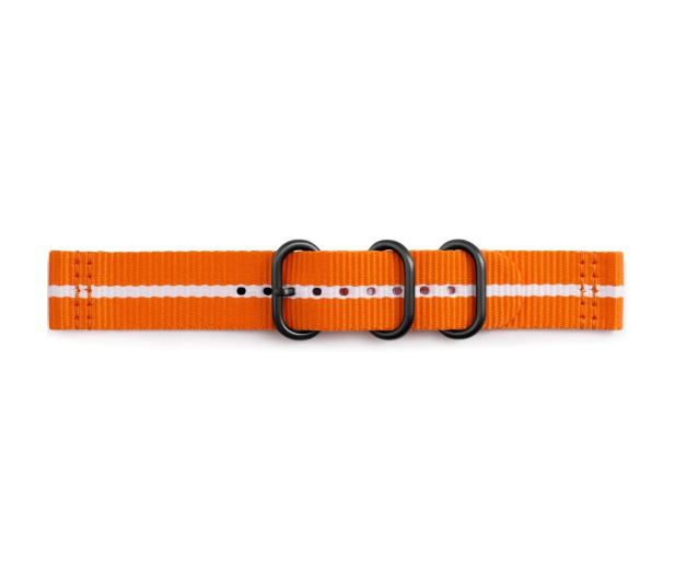 Samsung Premium Nato Strap do Gear Sport Orange-White - 395292 - zdjęcie