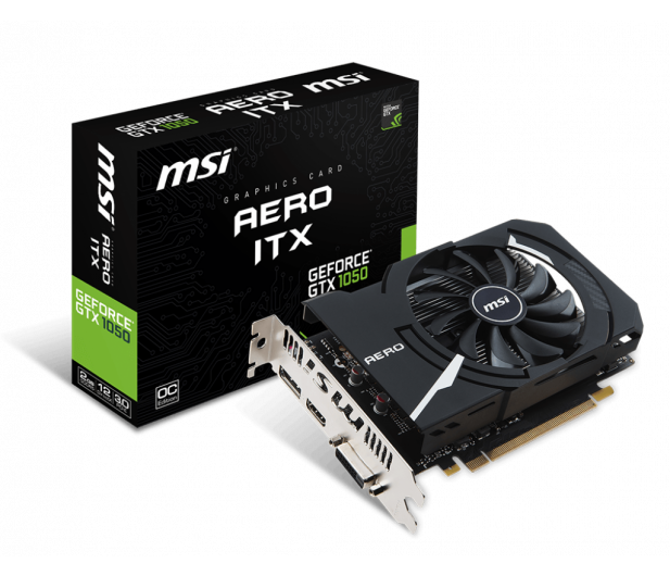 MSI GeForce GTX 1050 AERO ITX OC V1 2GB GDDR5 - 390999 - zdjęcie