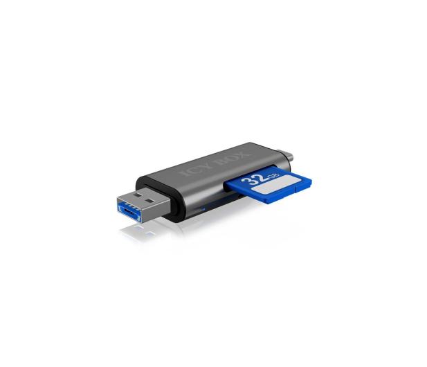ICY BOX Czytnik kart microSD USB (microUSB) - USB-C - 395674 - zdjęcie 2