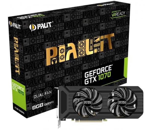 Palit GeForce GTX 1070 Dual Fan 8GB GDDR5 - 374693 - zdjęcie