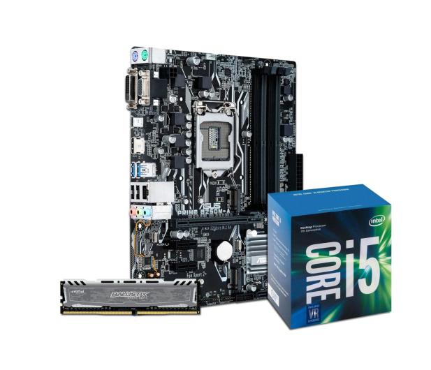 ASUS PRIME B250M-A + i5-7400 + Crucial 8GB 2400MHz - 380646 - zdjęcie 1