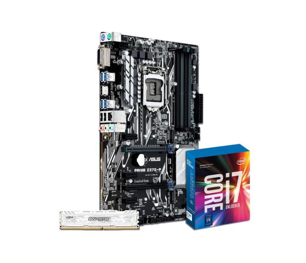 ASUS PRIME Z270-P + i7-7700K + Crucial 8GB 2400MHz - 391541 - zdjęcie 1