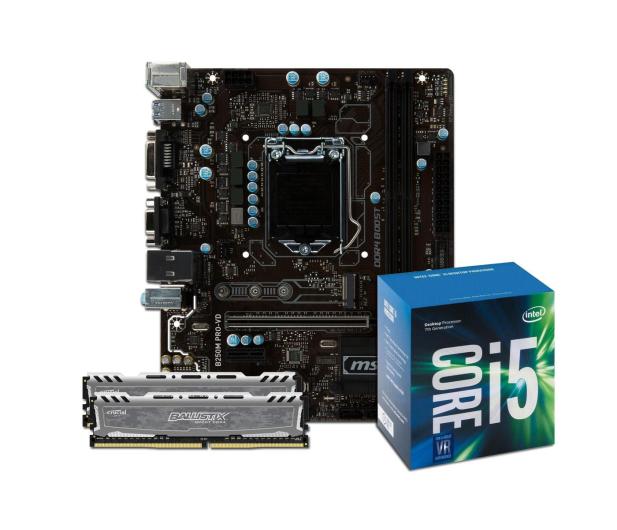 MSI B250M PRO-VD + i5-7400 + Crucial 16GB 2400MHz  - 391556 - zdjęcie 1