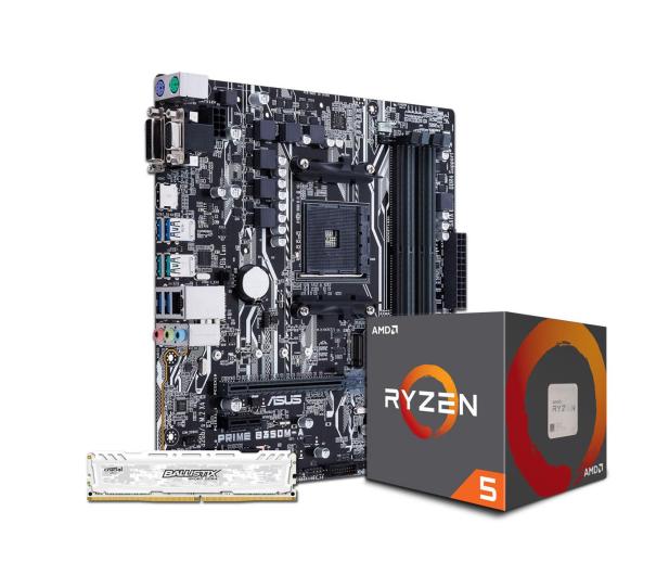 ASUS PRIME B350M-A + Ryzen 5 1600 + Crucial 8GB 2400MHz - 391655 - zdjęcie 1