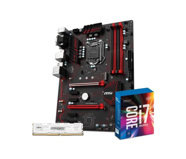 MSI Z270 GAMING PLUS + i7-7700K + Crucial 8GB 2400MHz  - 391648 - zdjęcie 1