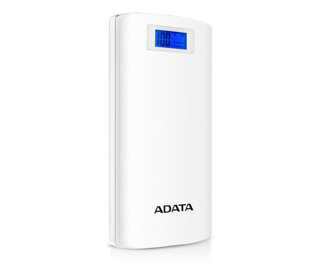 ADATA Power Bank P20000D 20000 mAh 2.1A (biały) - 397542 - zdjęcie