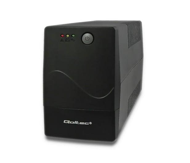 Qoltec Monolith (650VA/360W, 2x FR) - 397374 - zdjęcie