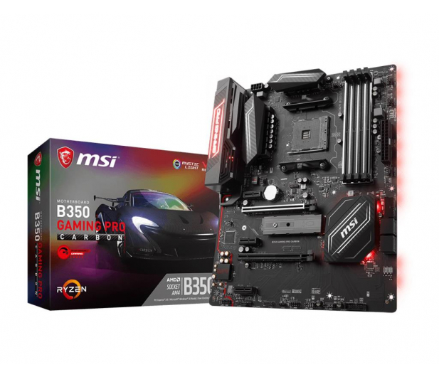 MSI B350 GAMING PRO CARBON (2xPCI-E DDR4 USB 3.1/M.2) - 365742 - zdjęcie