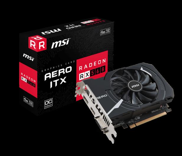 MSI Radeon RX 560 AERO ITX OC 4GB GDDR5 - 366573 - zdjęcie