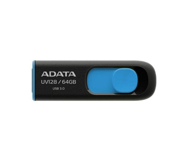 ADATA 64GB DashDrive UV128 czarno-niebieski (USB 3.1) - 370865 - zdjęcie