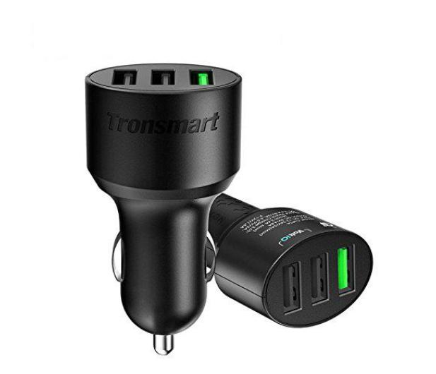 Tronsmart Ładowarka samochodowa 3 x USB 42 W QC 3.0 - 371184 - zdjęcie