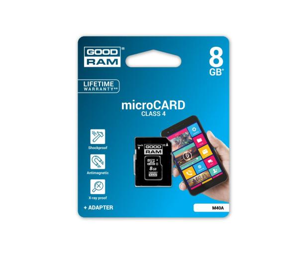 GOODRAM 8GB microSDHC zapis5MB/s odczyt15MB/s+adapter - 303118 - zdjęcie 3